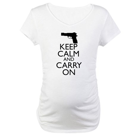 Keep Calm and Carry On Maternity T-Shirt