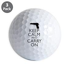 Keep Calm and Carry On Golf Ball