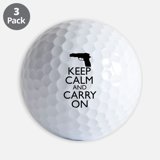 Keep Calm and Carry On Golf Ball