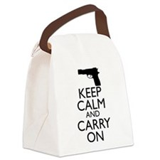 Keep Calm and Carry On Canvas Lunch Bag