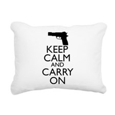 Keep Calm and Carry On Rectangular Canvas Pillow
