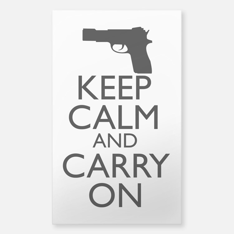 Keep Calm and Carry On Sticker (Rectangle)