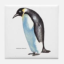 Emperor Penguin Bird Tile Coaster