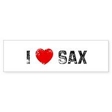 I * Sax Bumper Bumper Sticker