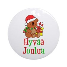 Hyvaa Joulua Ornament (Round)