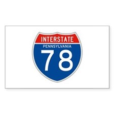 Interstate 78 - PA Rectangle Decal