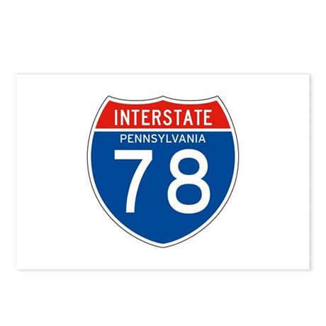 Interstate 78 - PA Postcards (Package of 8)