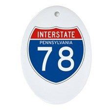 Interstate 78 - PA Oval Ornament