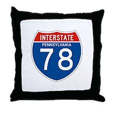 Interstate 78 - PA Throw Pillow