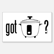 got rice? (cooker symbol) Decal