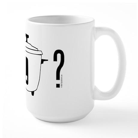 got rice? (cooker symbol) Large Mug