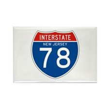 Interstate 78 - NJ Rectangle Magnet
