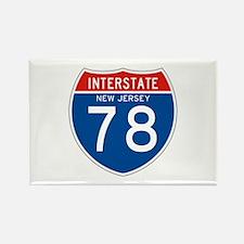 Interstate 78 - NJ Rectangle Magnet