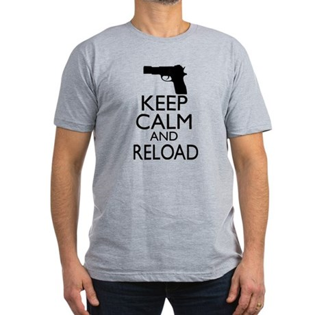 Keep Calm and Reload Men's Fitted T-Shirt (dark)
