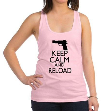 Keep Calm and Reload Racerback Tank Top