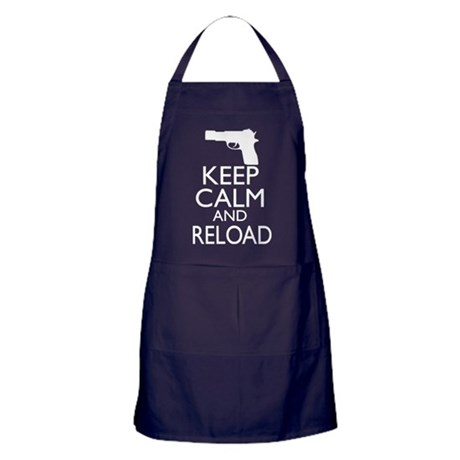 Keep Calm and Reload Apron (dark)