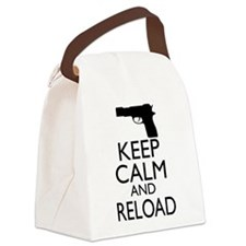 Keep Calm and Reload Canvas Lunch Bag