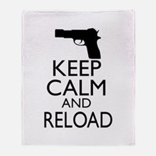 Keep Calm and Reload Throw Blanket