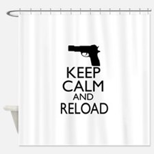 Keep Calm and Reload Shower Curtain