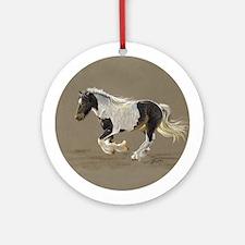 Gypsy Vanner Stallion Keepsake Ornament (Round)