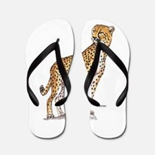 Cheetah Big Cat Flip Flops