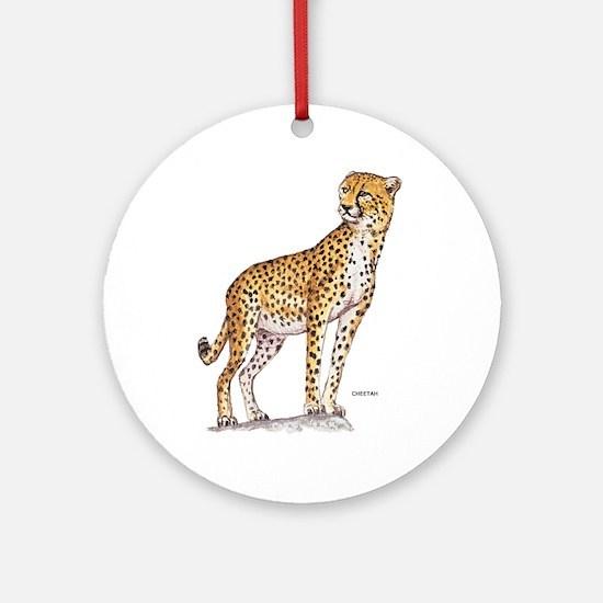 Cheetah Big Cat Ornament (Round)