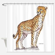 Cheetah Big Cat Shower Curtain
