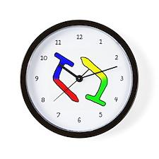 Bent Nails Wall Clock