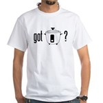 got rice? (cooker symbol) White T-Shirt