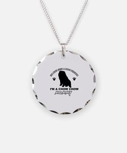 Chow Chow Mommy Necklace Circle Charm