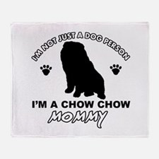 Chow Chow Mommy Throw Blanket