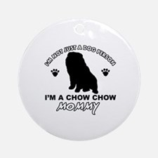 Chow Chow Mommy Ornament (Round)