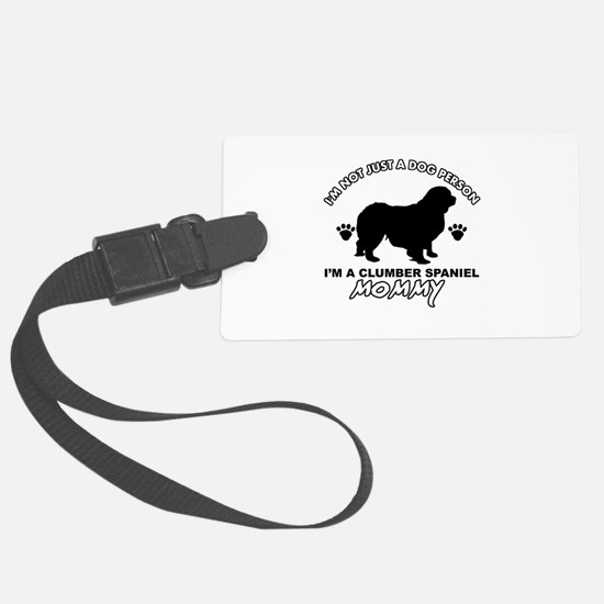 Clumber Spaniel Mommy Luggage Tag