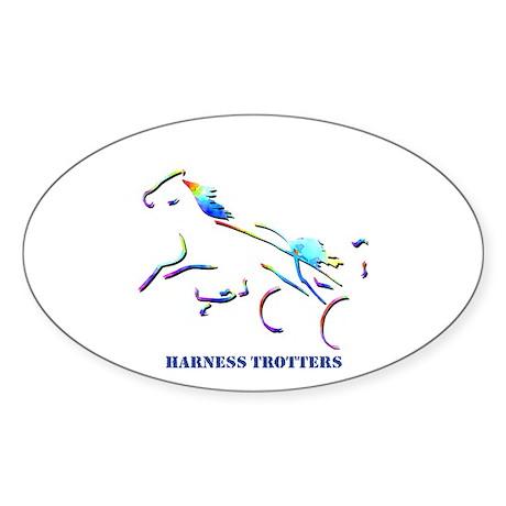 Harness Trotters Oval Sticker