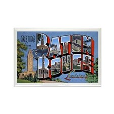 Baton Rouge Louisiana Greetings Rectangle Magnet