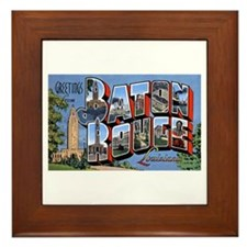 Baton Rouge Louisiana Greetings Framed Tile