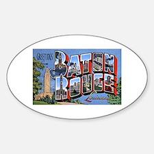 Baton Rouge Louisiana Greetings Oval Decal