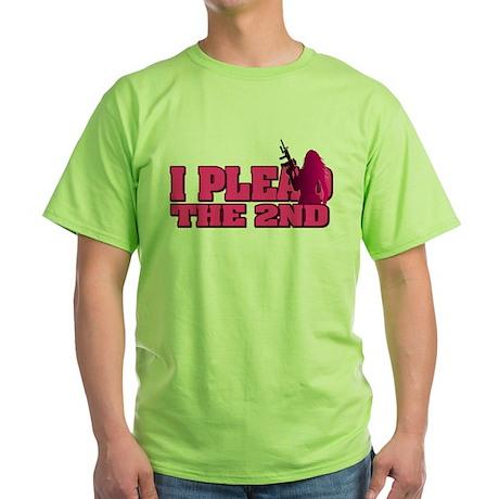 Plead the 2nd - Women Green T-Shirt