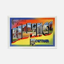 Billings Montana Greetings Rectangle Magnet