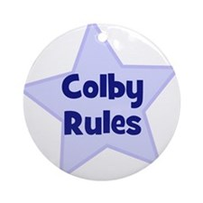 Colby Rules Ornament (Round)