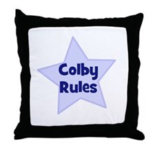 Colby Rules Throw Pillow