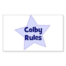Colby Rules Rectangle Decal