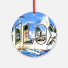 Biloxi Mississippi Greetings Ornament (Round)
