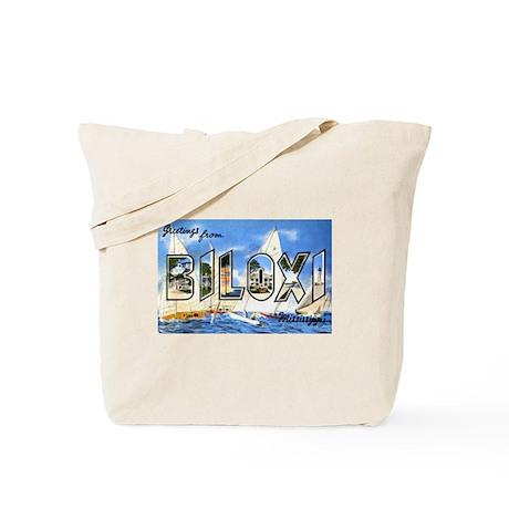 Biloxi Mississippi Greetings Tote Bag