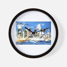 Biloxi Mississippi Greetings Wall Clock