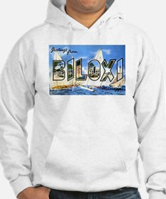 Biloxi Mississippi Greetings (Front) Hoodie