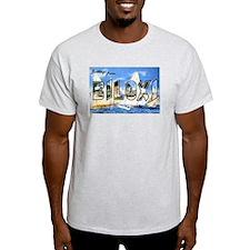 Biloxi Mississippi Greetings Ash Grey T-Shirt