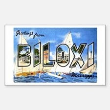 Biloxi Mississippi Greetings Rectangle Decal