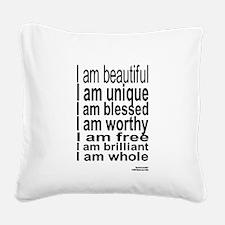 How Do I Love Me! Square Canvas Pillow