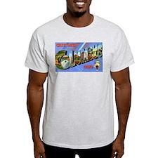 Columbus Ohio Greetings Ash Grey T-Shirt
